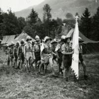 Magyar csrkészek az osztrák kontingensben